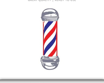 Barber Shop Pole - Barber Shop Pole SVG - Barber Shop Pole Graphic - Cricut - Silhouette Cameo - Instant Download - Ready to use!