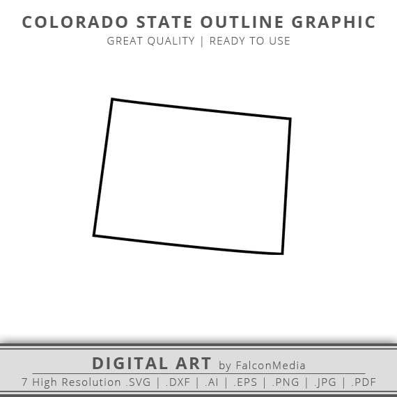 Colorado Svg Colorado State Svg Colorado Outline Svg Etsy