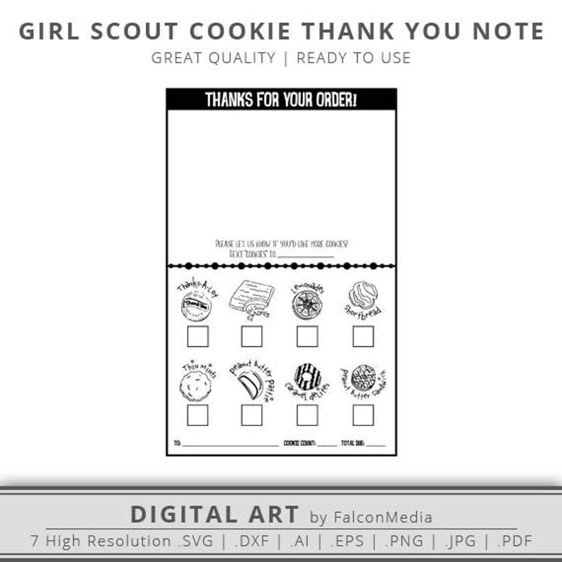 photograph relating to Girl Scout Cookie Thank You Note Printable named Woman Scout Cookie Printable - Female Scout PDF - Thank On your own Observe Shade Sheets - Woman Scout Cookie Fast Down load - Straightforward Geared up toward Retain the services of!