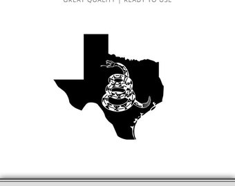 Texas Gadsden Flag Snake Graphic - Don't Tread On Me Flag - Snake Flag SVG - Don't Tread On Me SVG - Instant Download - Ready to Use!