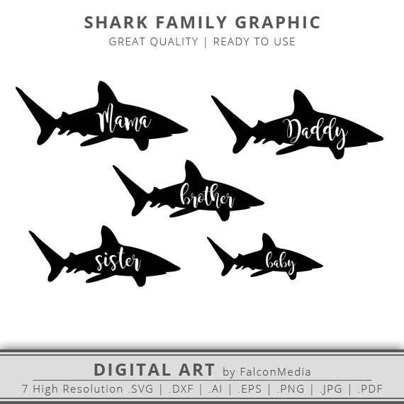 mommy shark svg