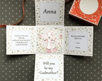 Will you be my Godmother / Godfather colourful exploding boxes - unisex