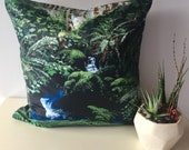 "Waterfall Decorative Throw Pillow Cover made from my original artwork called ""Water For Your Soul"""