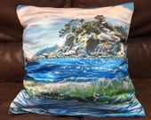 Seascape Throw Pillow, Oc...