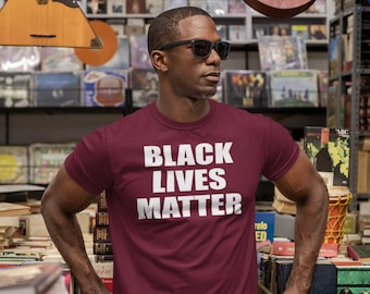 Black Lives Matter Men's T-Shirt, Civil Rights T-shirt, Protest Shirt, Racial Equality, Black History Tee, BLM Tee, Demand Change, Activist