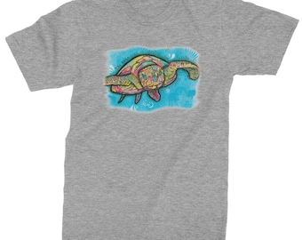 570286d07 Turtle Under The Sea Mens T-shirt