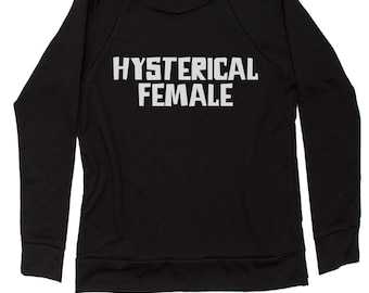 a12907f97 Hysterical Female Slouchy Off Shoulder Oversized Sweatshirt