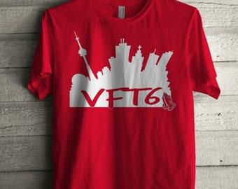 e7aac57da44fad More colors. Men s VFT6 Shirt Printed Unisex Adult Toronto Skyline ...