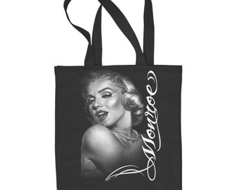f084d5b7a478 Marilyn Monroe Large White Shopping Tote Bag