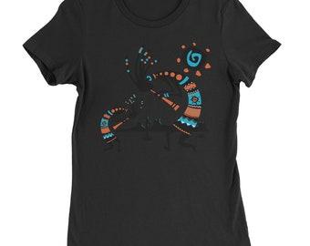 Native American Kokopelli Southwest Womens T-shirt df5b8df6721c