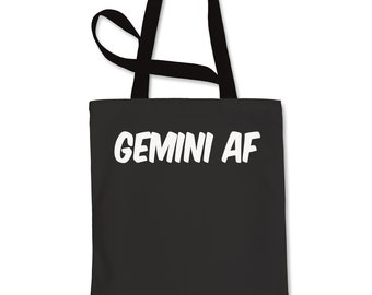 a3acfb3a5efc Gemini AF As F-ck Zodiac Shopping Tote Bag