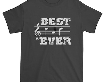 a43390dd9 Musical Notes Tshirt, Best Dad Ever Mens T-shirt, Shirt for Dad Musician, Father's  Day, Gift for Dad, Music Lover Shirt, The Best Dad Shirt