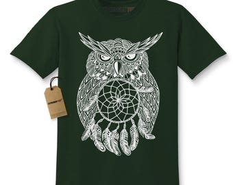 White Owl Dreamcatcher Kids T-shirt