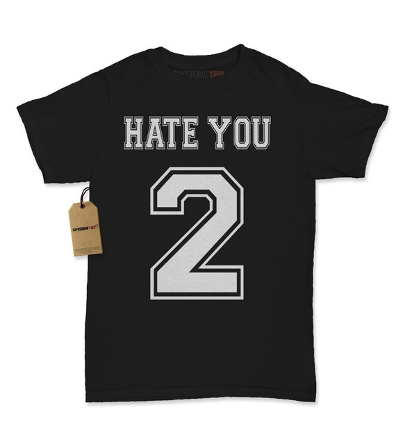 Women S Hate You 2 Shirt Printed Tumblr T Shirt 1199 Etsy