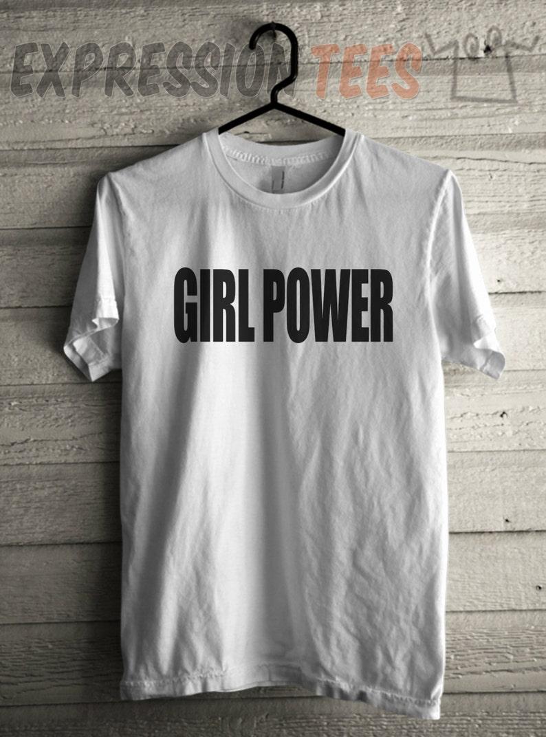 be2cffa1 Mens Girl Power Shirt Printed Girls Empowerment Tshirt | Etsy