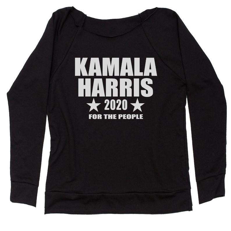 Kamala Harris 2020 For President Slouchy Off Shoulder Oversized Sweatshirt