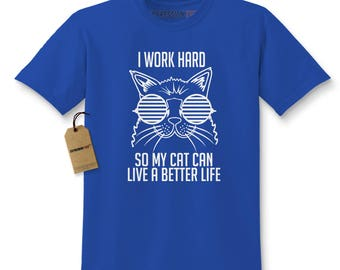 Work Hard For My Cat Kids T-shirt