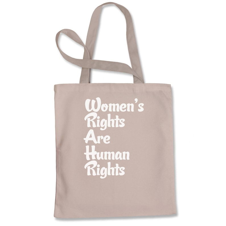 Women/'s Rights Are Human Rights Shopping Tote Bag