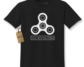 Fidget With Your Spinner Kids T-shirt