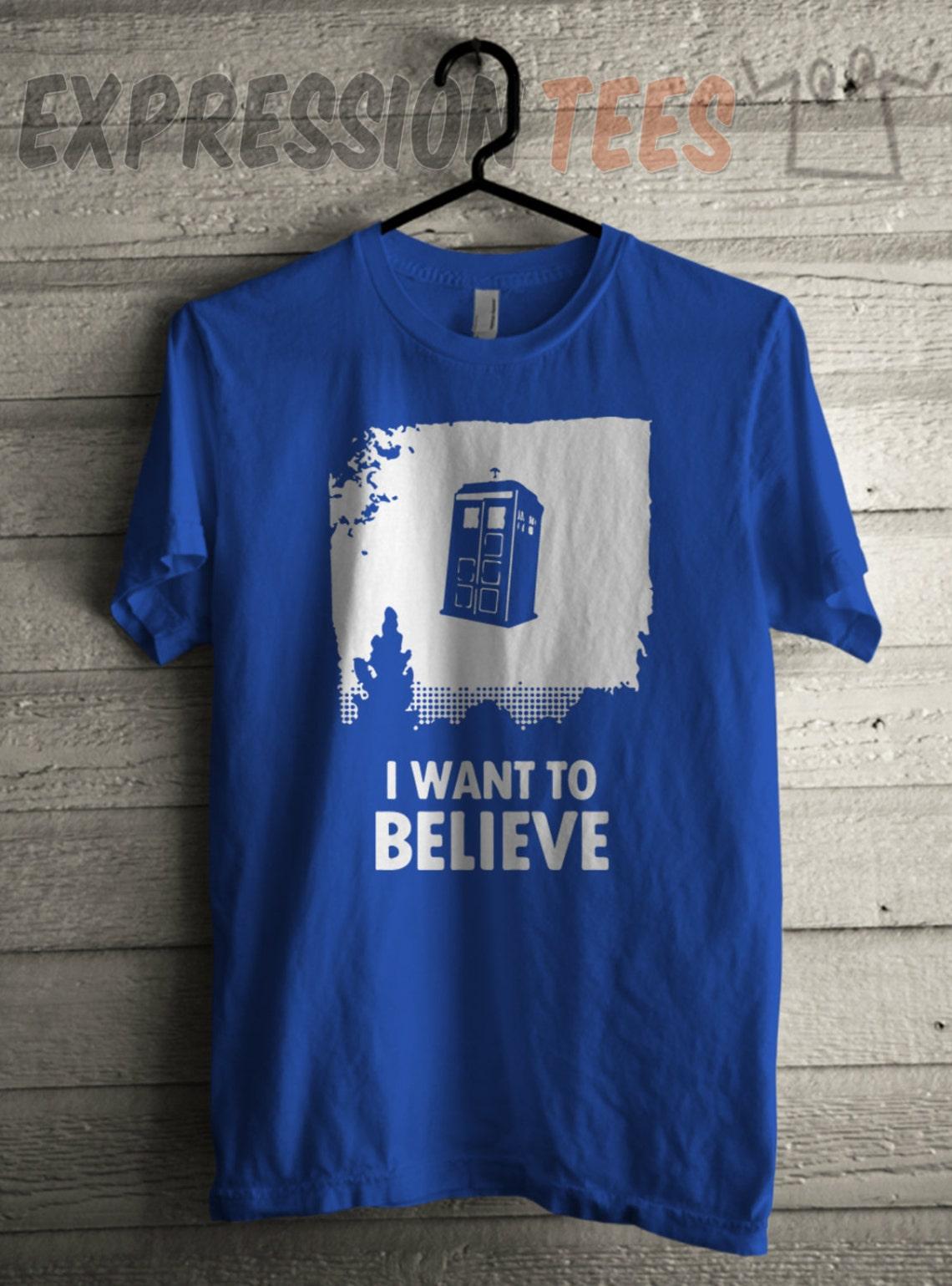 Men's I Want To Believe TARDIS Tee