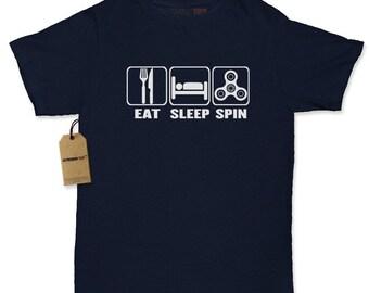 Eat Sleep Spin Womens T-shirt