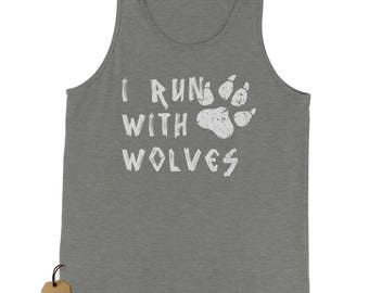 I Run With Wolves Jersey Tank Top for Men