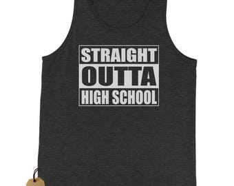 Straight Outta High School Jersey Tank Top for Men