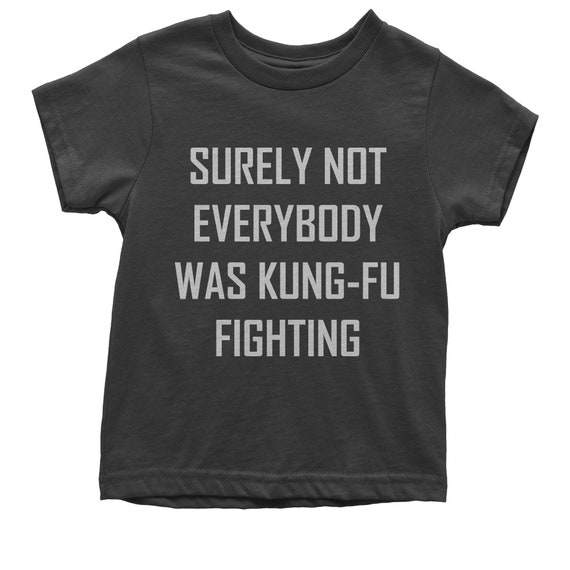 abc5a1203 Surely Not Everybody Was Kung-Fu Fighting Youth T-shirt | Etsy