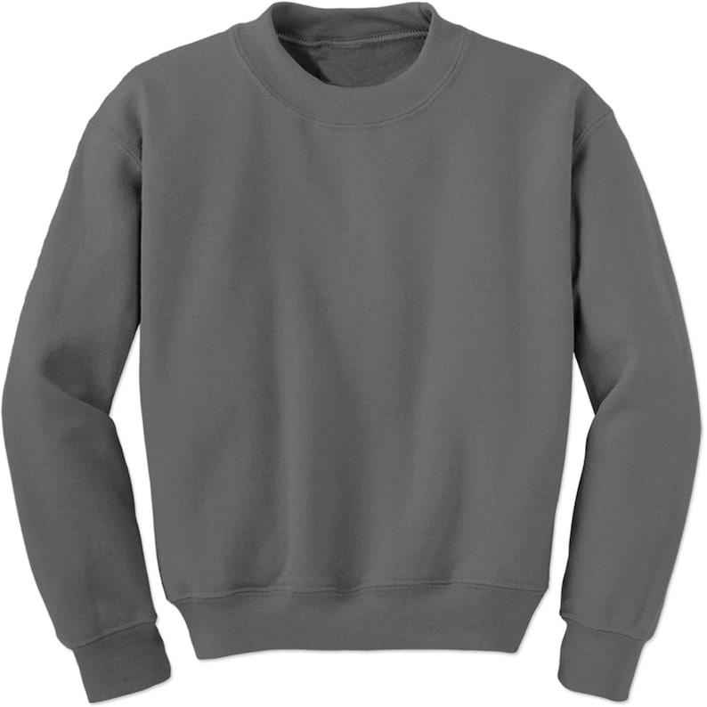 b759a2a7ee Basics Plain Blank Adult Crewneck Sweatshirt
