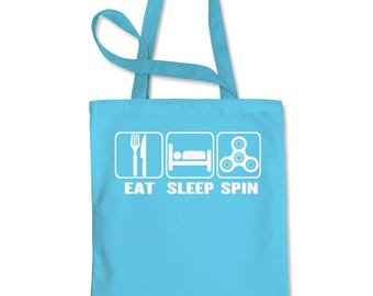 Eat Sleep Spin  Shopping Tote Bag