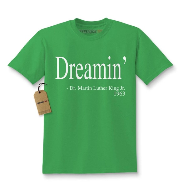 Expression Tees Dreamin Martin Luther King Quote Youth-Sized Hoodie