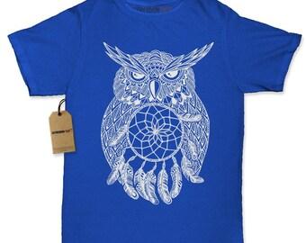 White Owl Dreamcatcher Womens T-shirt