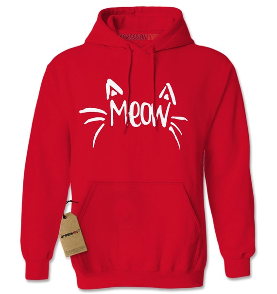 Expression Tees Neon Christmas Cat Unisex Adult Hoodie