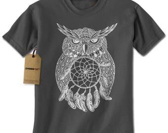 White Owl Dreamcatcher Mens T-shirt