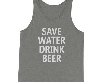 Save Water Drink Beer  Jersey Tank Top for Men