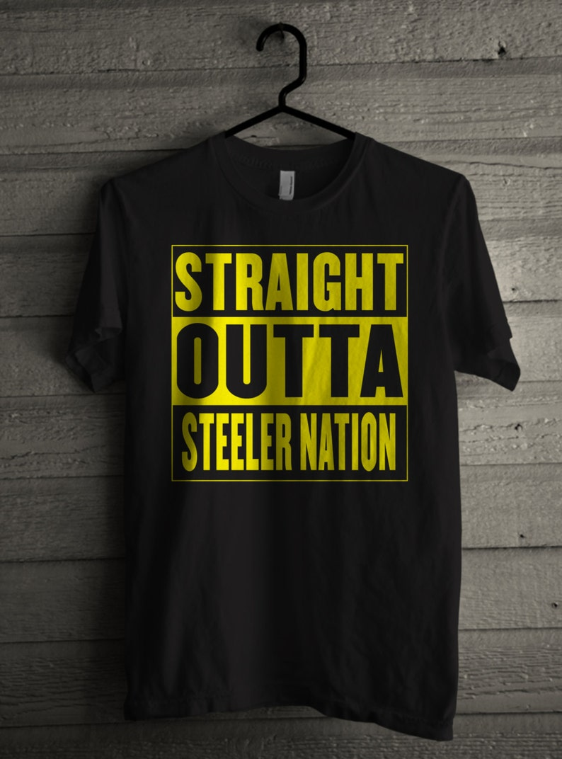 eac4659c9 Straight Outta Steeler Nation Men s Football T-shirt