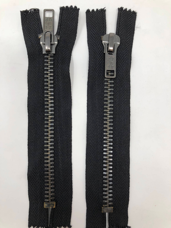 Glossy 8MM Teeth Beige//Brass Two-Way Separating Open Bottom Jacket Zipper