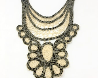 Gold Knitted Sew On Applique