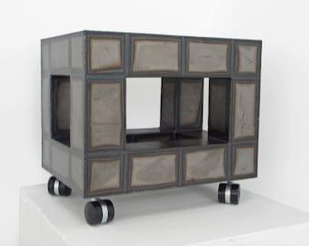 Geometric Sculpture   Block (on the Wheels)   Cityscapes   Mobile Sculpture   Architectural   Metal Sculpture   Raw Metal   Monochrome