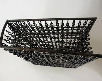Modern Associative Sculpture   Book of Chains   Minimal Art   Metal Art   Geometric Sculpture   Welded Iron   Chains   Book Art   Decoration