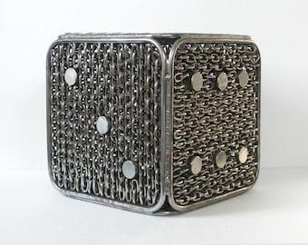 Djordje Aralica   Dice   Contemporary Sculpture   Metal Sculpture   Welded art   Garden Sculpture   Chain Art   Art Object   Game