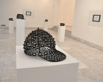 Handmade Sculpture   Baseball Cap   Sport Hat   Sports   Metal Sculpture   Chains   Welded Metal    Metal Art   Sporty   Sport Fashion