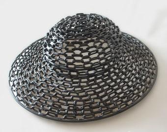 Original Sculpture   Lady's Hat   Minimal Art   Metal Art   Popular Culture   Fashion Art   Art Object   Iconic   Chain Art   Welded Metal