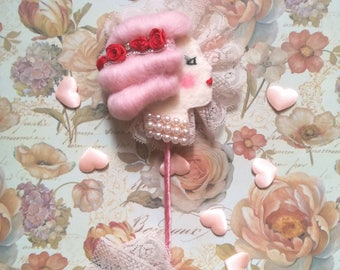 Powder Puff Wand Red Roses