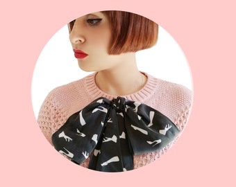 "Silk Bow foulard ""Libertines"" limited edition"