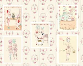 Greeting Cards Set: Rococo Boudoir