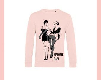 Tie Me Sweatshirt in  Pale Pink