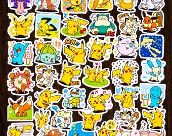 pokemon stickers etsy