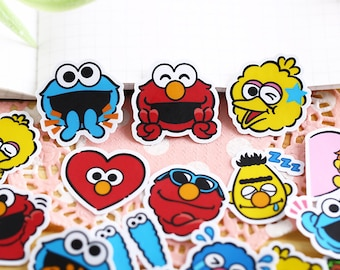 40 Pcs Sesame Street Sticker Pack/Anime Stickers/Decorative   Etsy