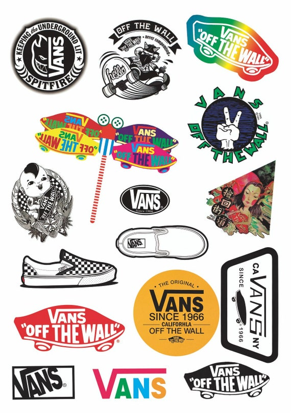 Vans Stickers Laptop koffer Stickers Skateboard Stickers decoratie Stickers 1 vel 16 PC 's